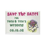 Save the Date Wed Rectangle Magnet