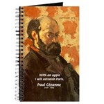 Cezanne Famous Paris Quote Journal