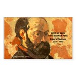 Cezanne Famous Paris Quote Rectangle Sticker