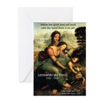Leonardo da Vinci Art Spirit Greeting Cards (Packa
