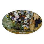 Degas Difficulty of Painting Oval Sticker