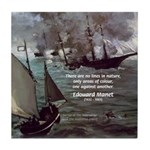 Manet Painting Color Quote Tile Coaster