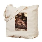 Michelangelo Perfection Quote Tote Bag