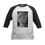 David with Michelangelo Quote Kids Baseball Jersey