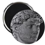 "David with Michelangelo Quote 2.25"" Magnet (100 pa"