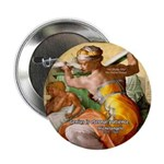 "Words on Genius Michelangelo 2.25"" Button (10 pack"