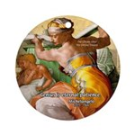Words on Genius Michelangelo Ornament (Round)