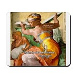 Words on Genius Michelangelo Mousepad