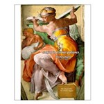 Words on Genius Michelangelo Small Poster