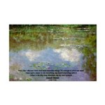 Monet Painting: Beauty Quote Mini Poster Print