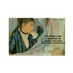 Female Artist Morisot Quote Rectangle Magnet (10 p