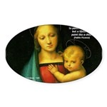Raphael Madonna Painting Oval Sticker