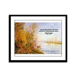 Alfred Sisley Nature Quote Framed Panel Print