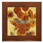 Van Gogh Painting & Quote Framed Tile