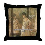 Aesop Quote Psyche Painting Throw Pillow