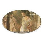 Aesop Quote Psyche Painting Oval Sticker