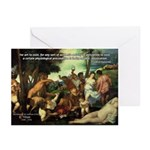 Intoxication Nietzsche Art Greeting Cards (Package