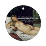 Freud Erotic Quote and Titian Ornament (Round)