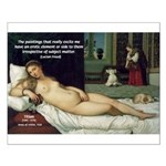 Freud Erotic Quote and Titian Small Poster