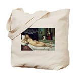 Freud Erotic Quote and Titian Tote Bag